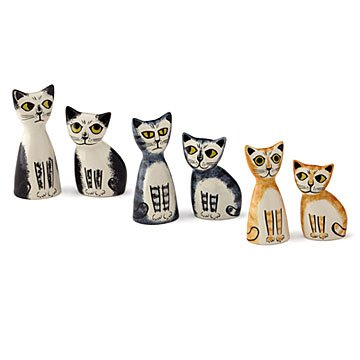 Colorful Cat Salt & Pepper Shakers