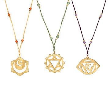 Silk Thread Chakra Necklace