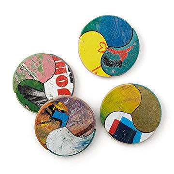 Recycled Skateboard Coasters - Set of 4