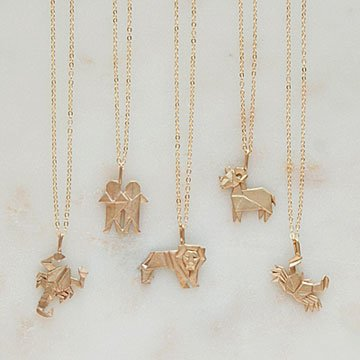 Origami Zodiac Necklaces