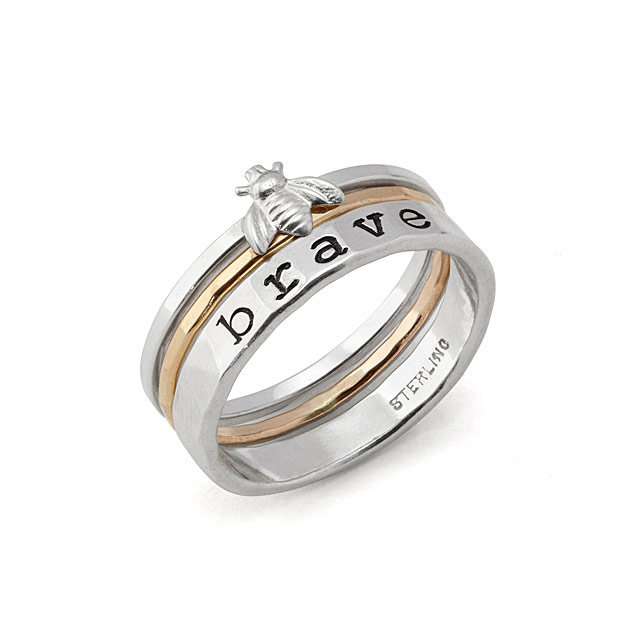 Bee Brave Stacker Ring