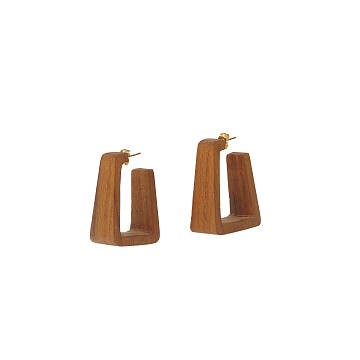 Teak Hoop Earrings