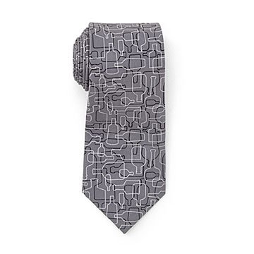 Bourbon Days Necktie Gray and Black