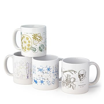 Oversized Scientific Diagram Mugs