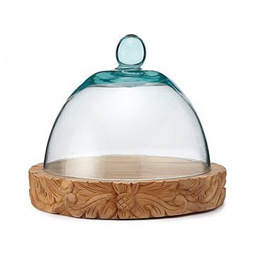Hand-Carved Serving Board & Cloche