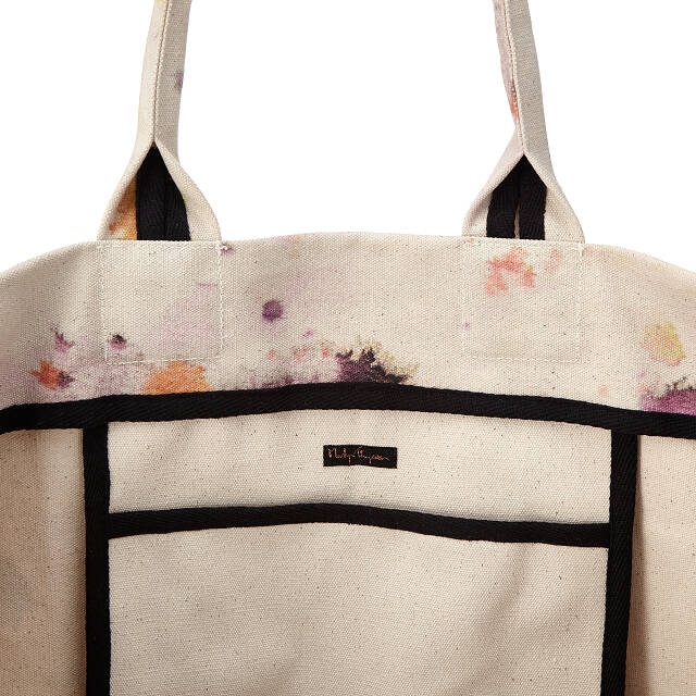 Splatter Canvas Oversized Tote