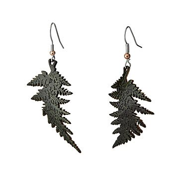 Chlorophyll Infusion Fern Earrings