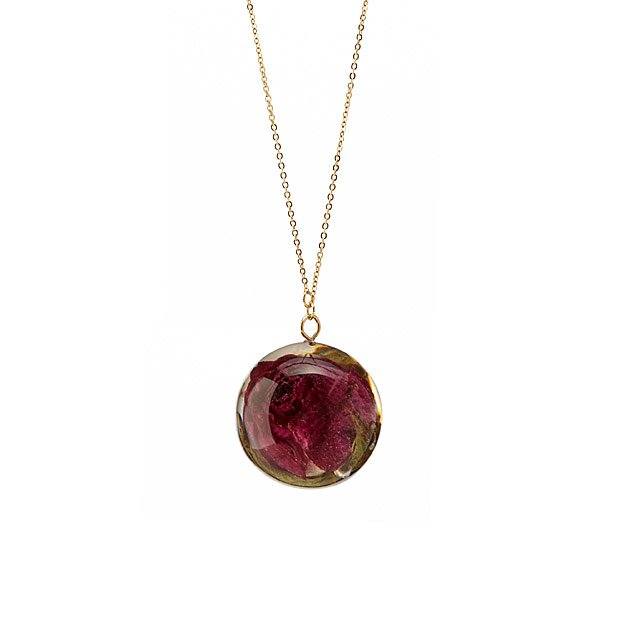 Natural Rose Resin Necklace