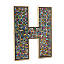 Recycled Aluminum Dancing Mosaic Letters 2 thumbnail
