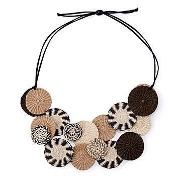 Iraca Woven Statement Necklace