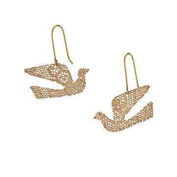 Crane Of Peace Lace Earrings