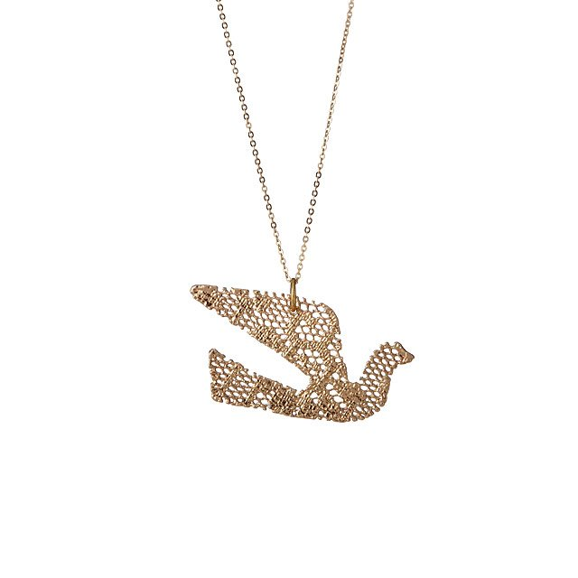 Crane Of Peace Lace Necklace