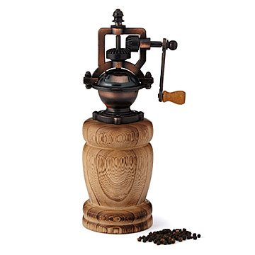 Wooden Steampunk Pepper Mill