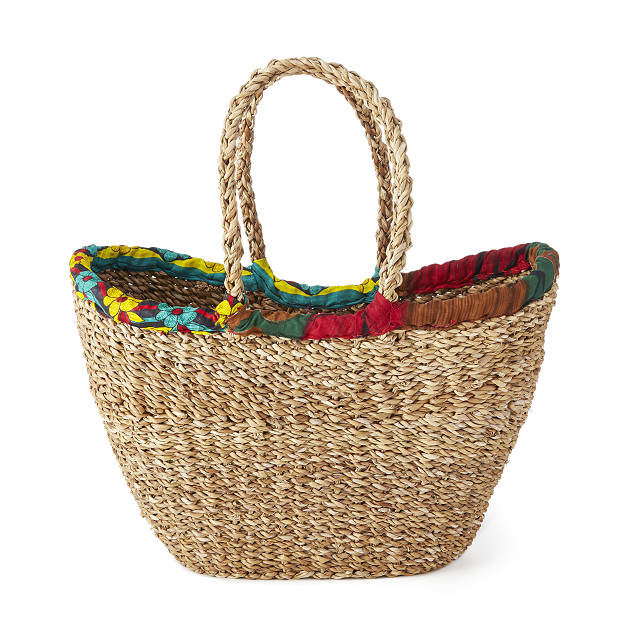 Sari Wrap Shopping Basket