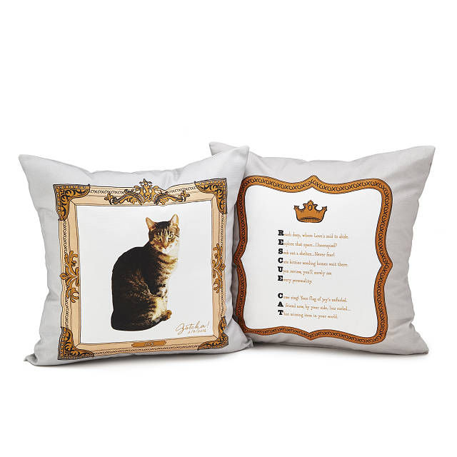 Rescue Pet Custom Photo Pillow
