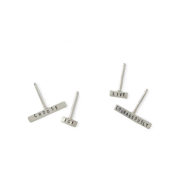 Mismatched Mantra Earrings