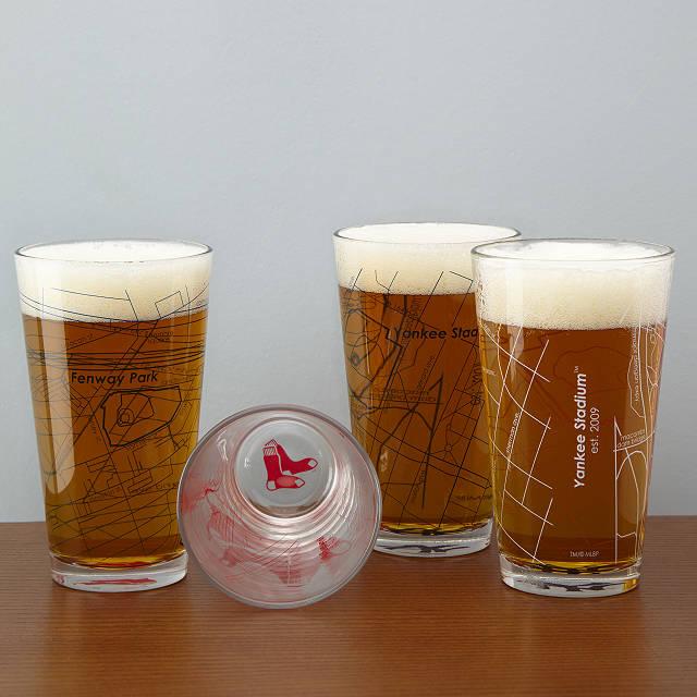 Baseball Park Map Pint Glasses - Set of 2