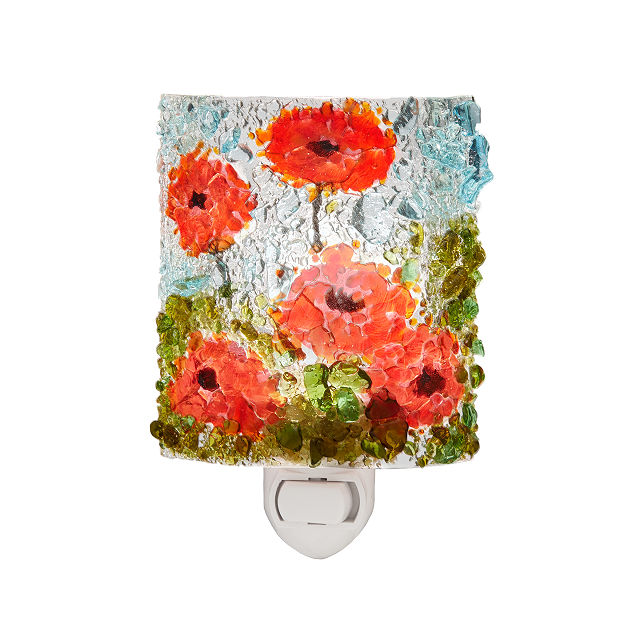 Recycled Glass Poppies Nightlight