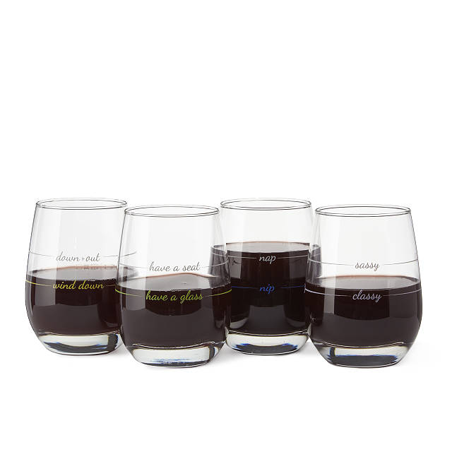 Everything in Moderation Wine Glasses - Set of 4