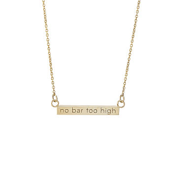 No Bar Too High Necklace
