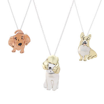 Puppy Love Mixed Metal Necklaces