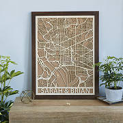 Personalized Wood Cut City Map