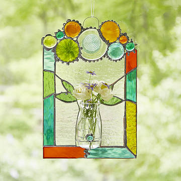 Glass Flower Bouquet Art