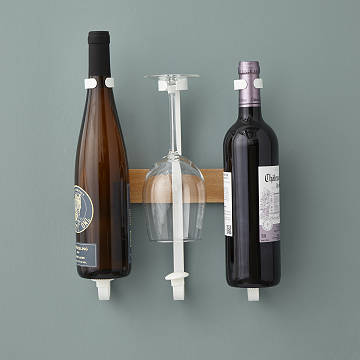 Adjustable Wine Bottle and Glass Rack