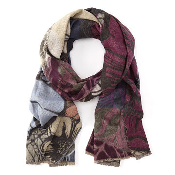 Floral Recycled Eco-Cashmink Scarf