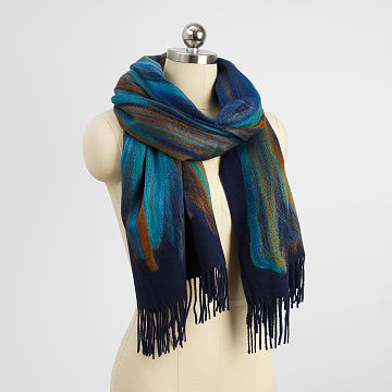 Felted Ombre Needle Oversized Scarf