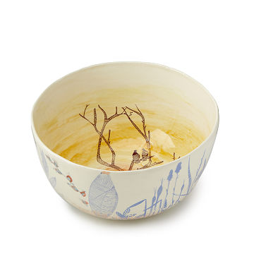 Personalized Lovebirds Serving Bowl