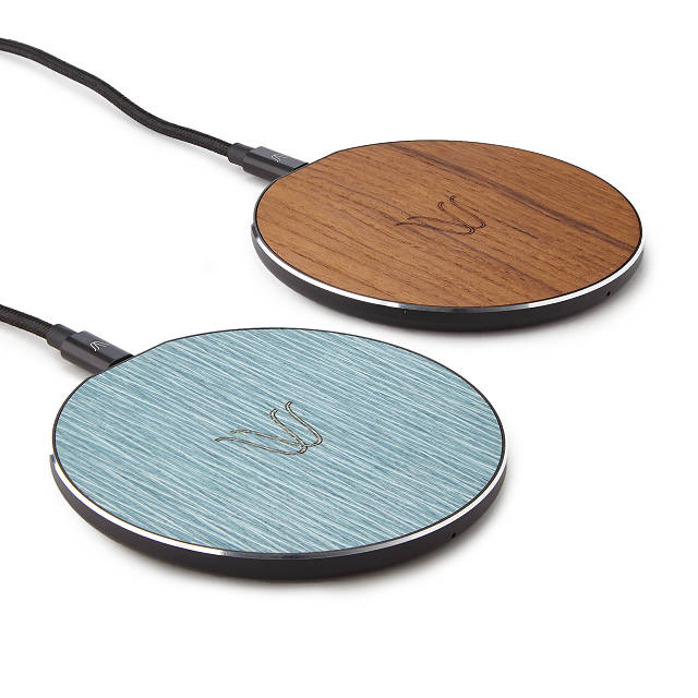 Wireless Teak Charging Pad