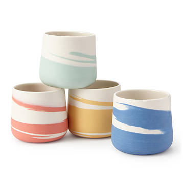 Taffy Ceramic Wine Tumblers - Set of 4