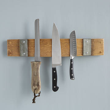 Reclaimed Wine Barrel Knife Rack