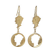 Lady Liberty Dime Drop Earrings