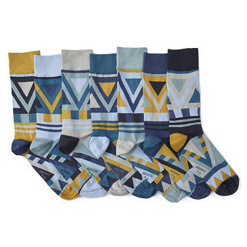 Trichotomic Mismatched Socks Pack of 7