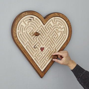 Magnetic Love Maze Wall Art