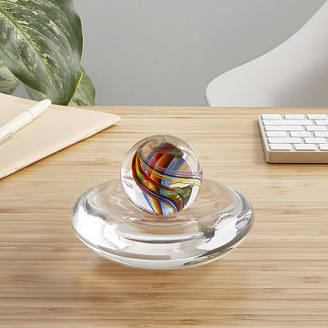 Glass Rainbow Marble Spinner
