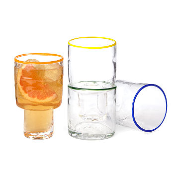 Clear Stackable Glasses - Set of 4