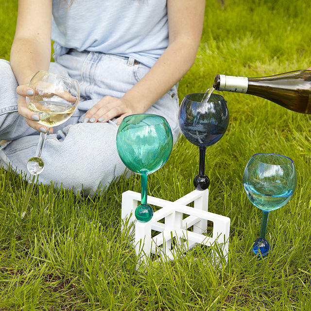 Colorful Outdoor Wine Glasses - Set of 4