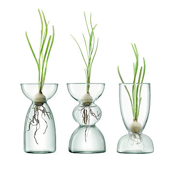 Recycled Glass Bulb Vase Trio