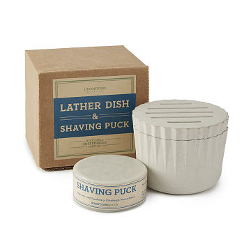 Lather Dish & Shaving Puck