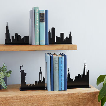 City Skyline Bookends