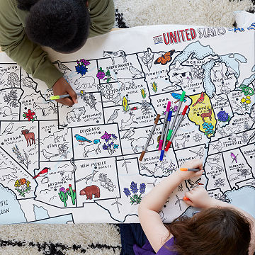 USA Coloring Tablecloth