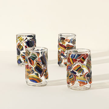 Handmade Mosaic Tumblers - Set of 4