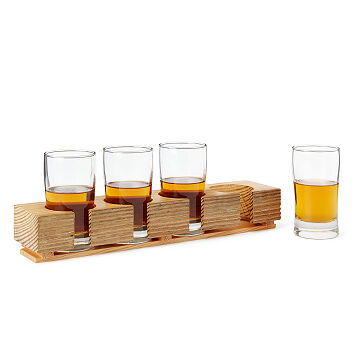 Churchill Downs Reclaimed Wood Whiskey Flight