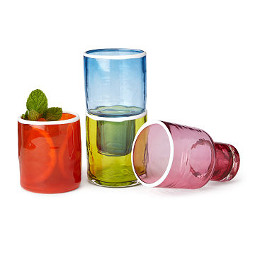 Colorful Stackable Glasses - Set of 4