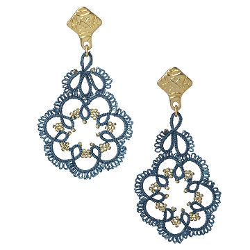 Turkish Oya Stitch Lace Earrings