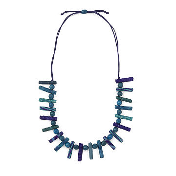 Iraca Sewn Palito Long Necklace
