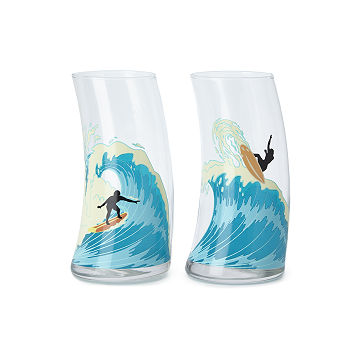 Catch a Wave Glasses - Set of 2
